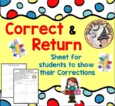 Correct and Return Corrections for Students to Correct Missed Math Problems