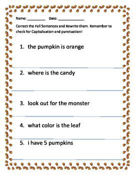 Correct the Fall Sentences