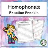 Correct the Homophones