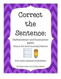 Correct the Sentence:  April Capitalization and Punctuation