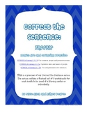 Correct the Sentence Freebie: Capitalization and Punctuation
