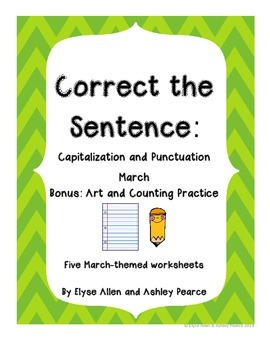 Correct the Sentence: March Capitalization and Punctuation