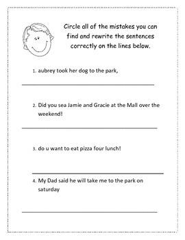 Correct the Sentences
