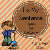 Editing Sentences Capitals and Punctuation Fall Center