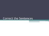 Correct the Sentences Part 2