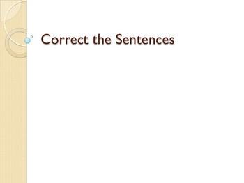 Correct the Sentences Part 3