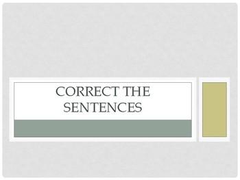 Correct the Sentences Part 4