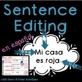 Editing Sentences in Spanish
