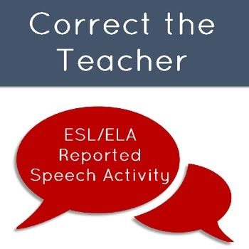 Correct the Teacher: A Mistaken Story Activity to Teach Reported Speech