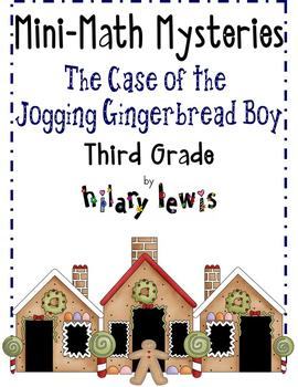 Corrected-Mini-Math Mystery-Jogging Gingerbread-Grade 3-Freebie