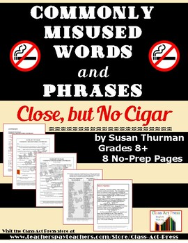 Writing Fun: Correcting Commonly Misused Words & Phrases (7 Pgs., Ans. Key, $3)