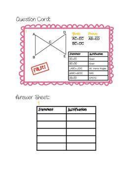 Correcting False Proofs Activity Cards