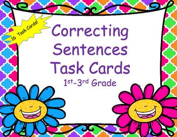 Correcting - Proofreading Sentences Task Cards