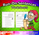 Distance Learning - Run-On Sentences Worksheets