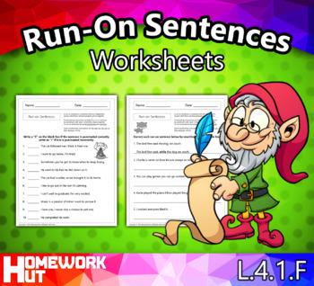 L.4.1.F - Run-On Sentences Worksheets