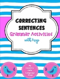Correcting Sentences: Grammar Worksheets