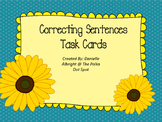 Correcting Sentences- Proofreading Task Cards