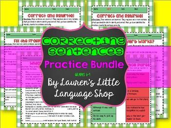 Correcting Sentences Student Practice