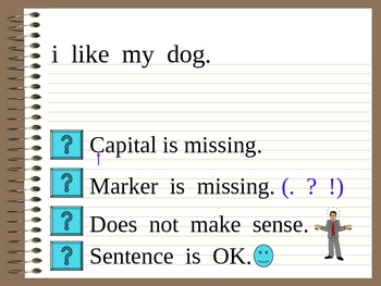 Correcting Sentences a fun interactive powerpoint!