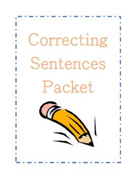 Correcting Sentences packet