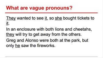 Correcting Vague Pronouns