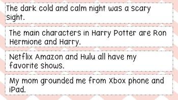 Correction! Commas in a Series
