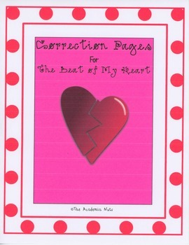 """Correction Pages for """"The Beat of My Heart"""""""
