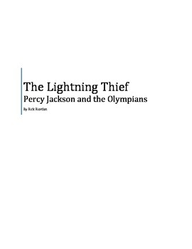 Percy Jackson and the Olympians: The Lightning Thief Novel Study