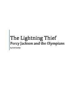 Percy Jackson and the Olympians: The Lightning Thief Novel Study