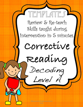 Corrective Reading A: Review Templates for every week!