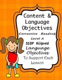Corrective Reading Content Objectives and Language Objectives
