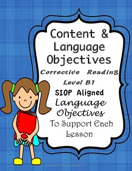Corrective Reading Content Objectives and Language Objectives Level B1