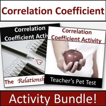 Correlation Coefficient Activity Bundle!