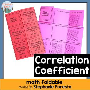 Correlation Coefficient Foldable
