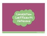 Correlation Coefficient Notecard