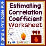 Correlation Coefficient PDF Matching Worksheet (Distance Learning)