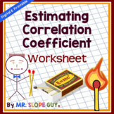 Correlation Coefficient PDF Matching Worksheet Statistics