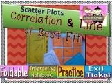 Correlation & Line of Best Fit Foldable, INB, Practice, & Exit Ticket