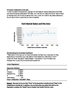 Correlation and Regression Activity - Interest Rates and the Dow