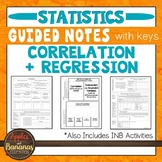 Correlation and Regression - Interactive Notebook Activities & Guided Notes