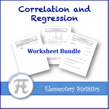 Correlation and Regression Worksheet Bundle