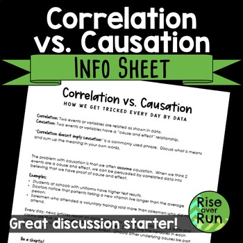 correlation vs causation information sheet freebie by rise over run correlation vs causation information sheet freebie