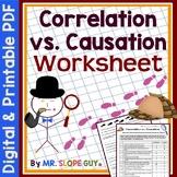 Correlation vs Causation PDF Worksheet (Distance Learning)