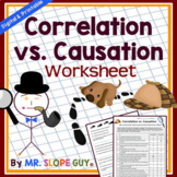 Correlation vs Causation PDF Worksheet HSS-ID.C.9