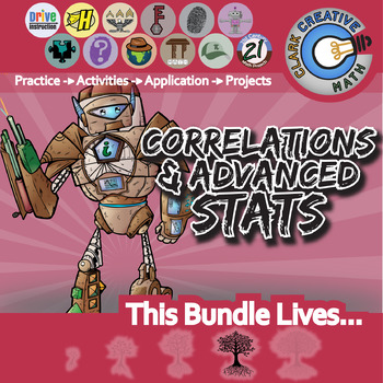 Correlations & Advanced Stats -- Pre-Calculus Curriculum Unit -- All You Need