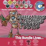 Correlations & Adv Stats Unit Bundle - Pre-Calc - Distance Learning Compatible