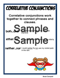 Correlative Conjunction Anchor Charts