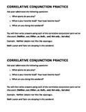 Correlative Conjunction Practice