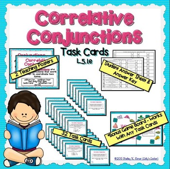 Correlative Conjunction Task Cards L.5.1.e