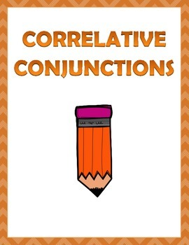 Correlative Conjunctions: 3 pages of worksheets.
